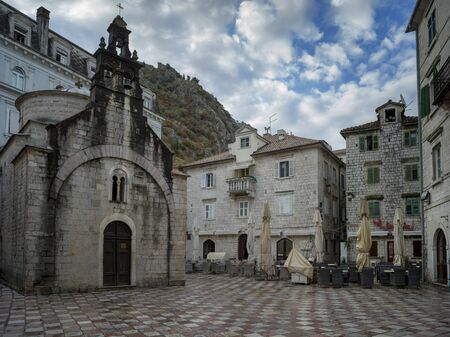 Faade of St Luke church, Kotor, Bay of Kotor, Montenegro