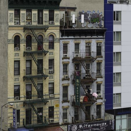 Facades of buildings, Chinatown, Manhattan, New York City, New York State, USA