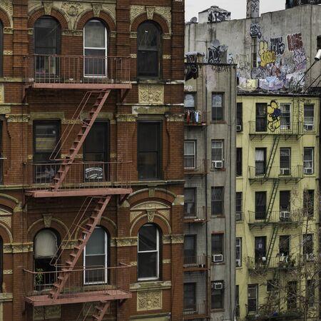 Facades of buildings, Manhattan, New York City, New York State, USA 写真素材