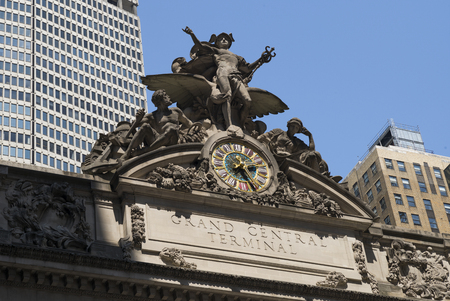 Statues of Hercules, Mercury and Minerva at Grand Central Terminal, New York City, New York State, USA