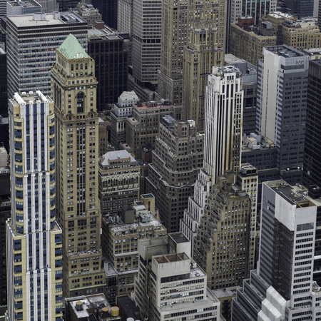 Elevated view of cityscape, Midtown Manhattan, New York City, New York State, USA