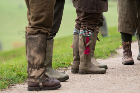Shooting attire and wellies