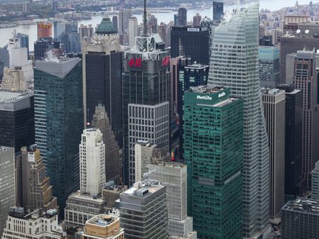 Aerial view of cityscape, Midtown Manhattan, New York City, New York State, USA