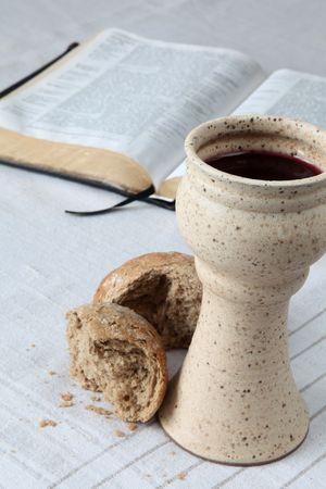 santa cena: Comuni�n