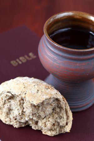 supper: Communion still life. Shallow dof, copy space
