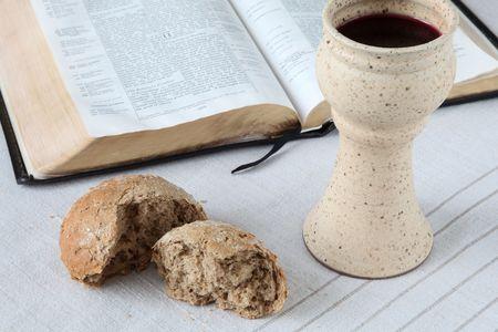 bible ouverte: Dernier souper