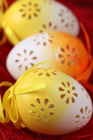 Flowery Easter eggs photo