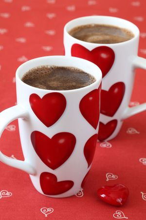 decaffeinated: Coffee with hearts