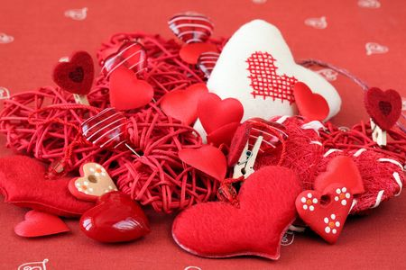 Various kinds of heart decorations Stock Photo - 6335638