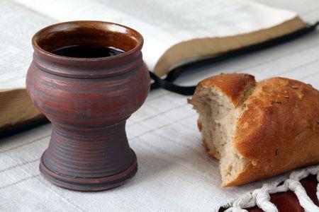 santa cena: Comuni�n Foto de archivo