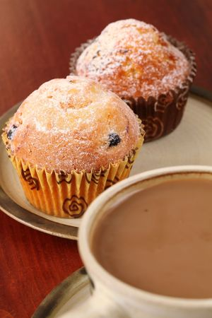 Muffins and coffee photo