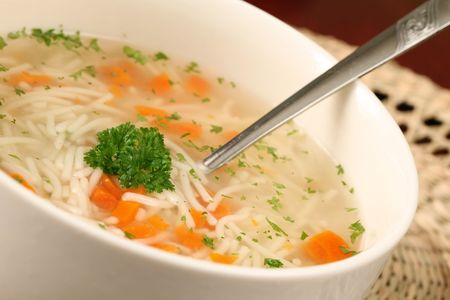 chicken soup: Turkey or chicken soup Stock Photo