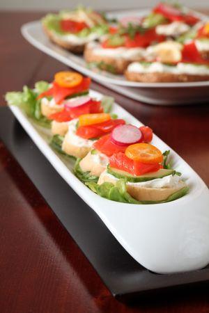smoked salmon: Smoked salmon appetizers