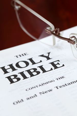 Close up of the Holy Bible. Shallow DOF photo