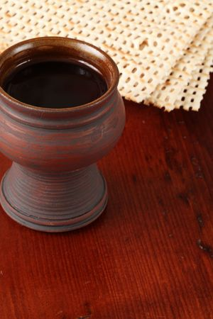 Passover - wine and matzo Stock Photo - 6716275