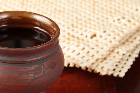 matzo: Wine and matzo