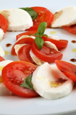 balsamic: Caprese salad Stock Photo
