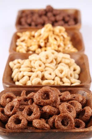 Chocolate and honey cereals photo