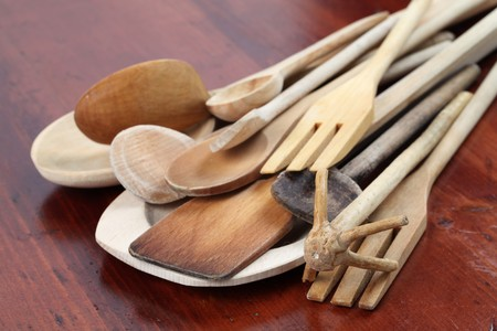 Wooden spoons photo