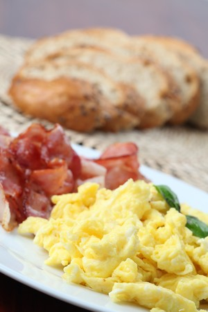 Scrambled eggs and bacon Stock Photo - 7262371