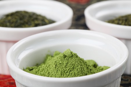 sencha: Tea collection - focus on matcha green tea powder