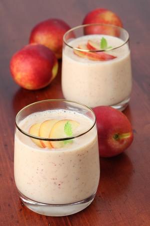 Nectarine milk shake photo