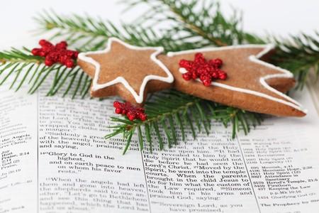 religious text: Christmas message Stock Photo