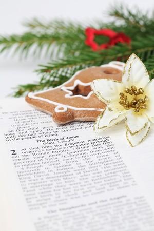 religious text: Christmas story Stock Photo