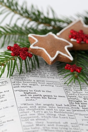 Christmas message Stock Photo