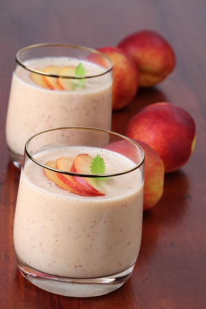 Nectarine milkshake photo