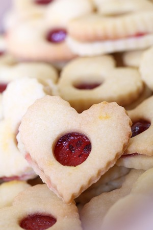 shaped: Shortbread cookies - traditional Czech Christmas and wedding cookies.