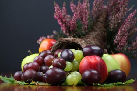 harvest cone cornucopia: Fruit cornucopia