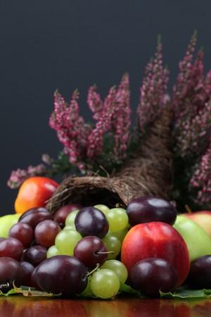 Fruit cornucopia photo