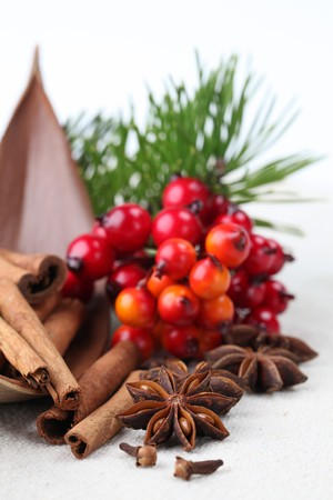Christmas spices photo