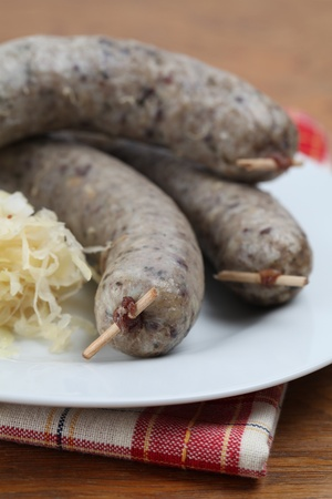 Raw traditional Czech white pudding made of pork, groats and various spices Stock Photo - 8601827