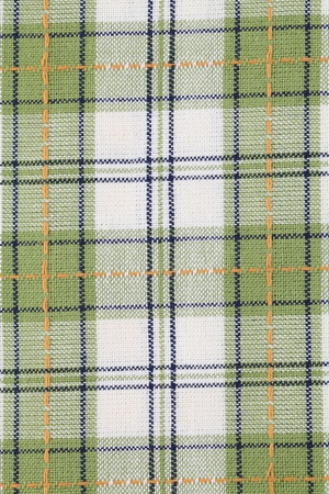 Green chequered dish towel background photo