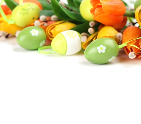 Easter border Stock Photo