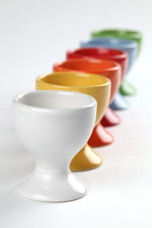 Colorful eggcups. Shallow dof Stock Photo - 9503638