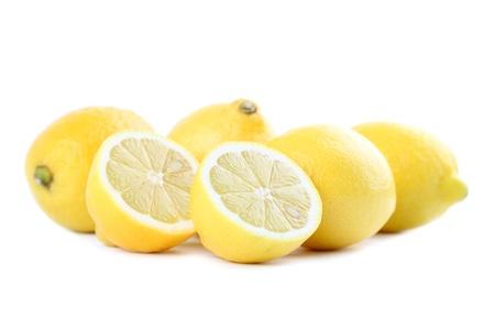 wedge: Lemons isolated on white background  Shallow dof