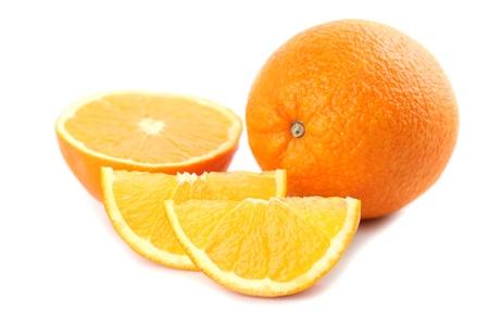wedge: Oranges isolated on white background  Shallow dof Stock Photo