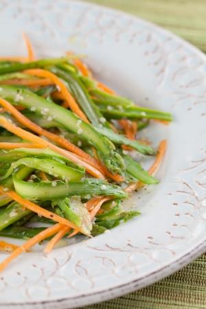 hemp hemp seed: Asparagus salad with carrot and hemp seeds