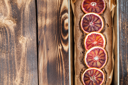 spelt: Healthy and delicious spelt cake with blood oranges