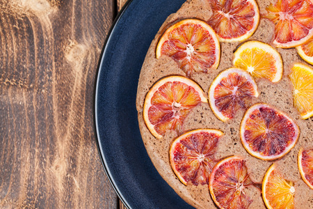 upside down: Upside down spelt cake with blood oranges