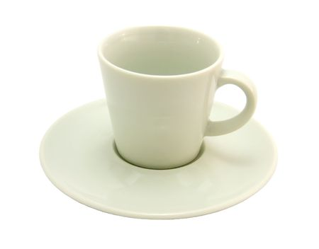 coffeecup: White coffee-cup on a white background