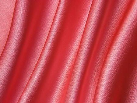 Smooth elegant pink satin silk fabric as background Stock Photo