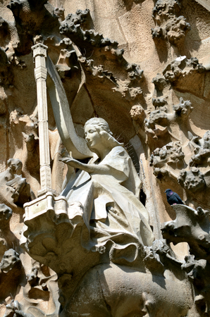familia: Architectural details of the Sagrada Familia. Barcelona, Catalonia, Spain 1 Stock Photo