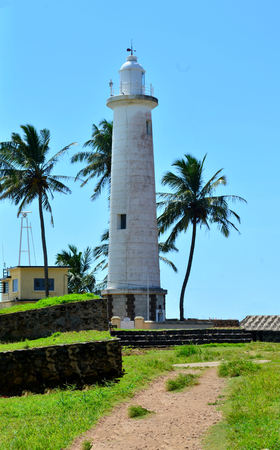 galle: Galle fort lighthous and palm trees