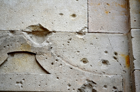 holed: blank canvas or concrete texture
