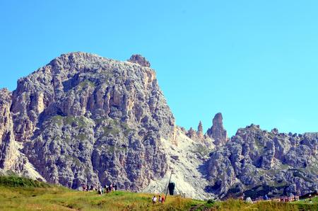 gardena: Gardena Pass Dolomites Stock Photo