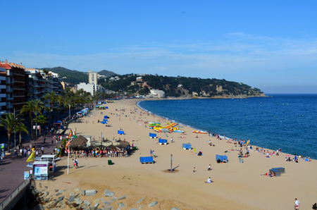 costa brava: Lloret de Mar beach Costa Brava Spain